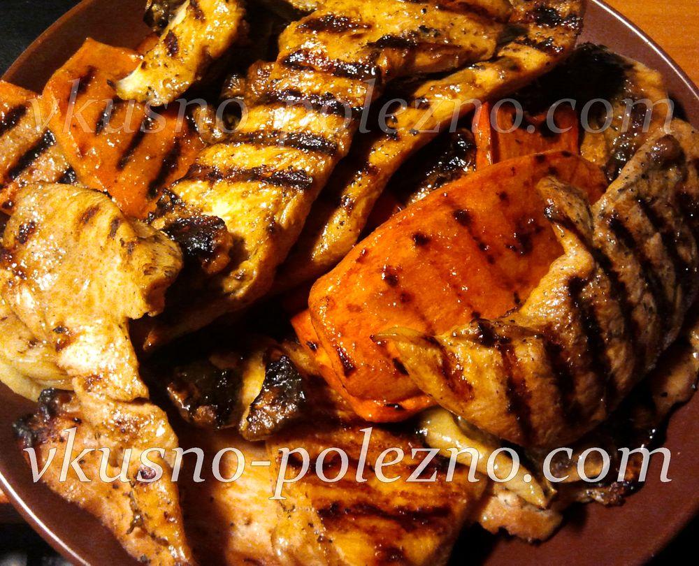 куриное филе в соевом соусе на сковороде